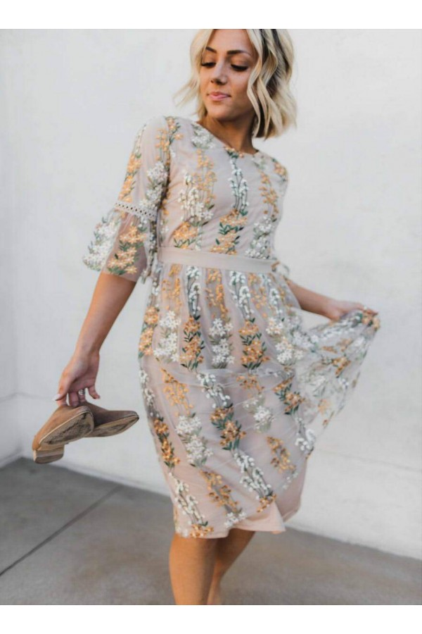 The Full Bloom Embroidered Dress