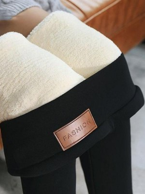 Warm pants winter skinny thick velvet wool fleece leggings