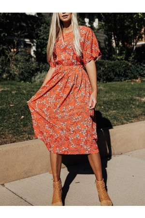 Sexy No Boundaries Floral Midi Dress