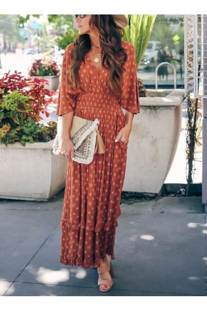 VNECK TUNIC MAXI DRESS