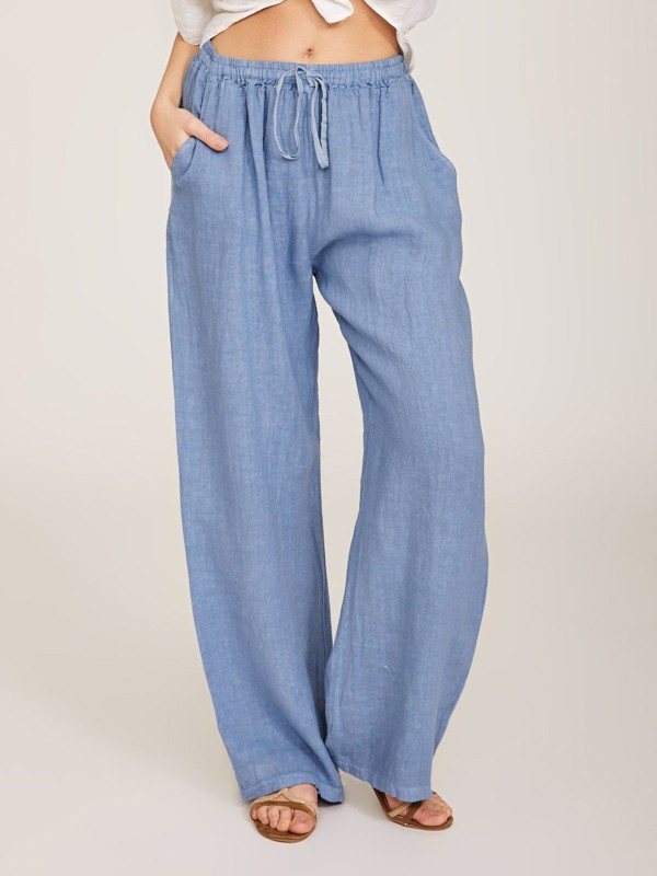 Wommer Solid Wide Leg Pants