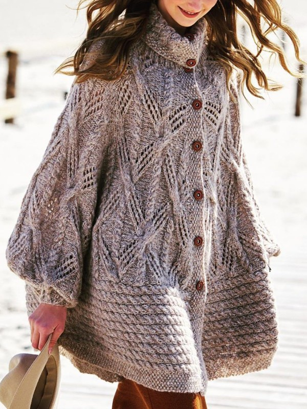 Sweater plus size Vintage Knitted Outerwear