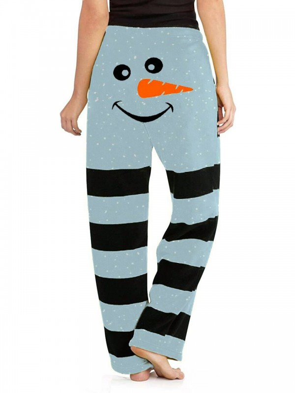Women's Christmas Snowman Casual Pants