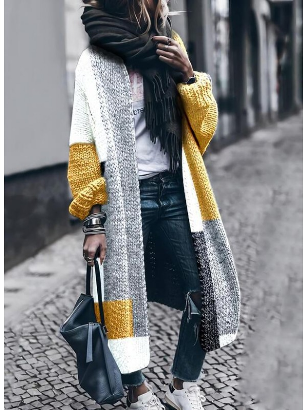 Casual Color Stitching AllMatched Cardigan