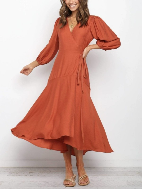 V Neck Dresses ALine Daily Dress