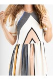 Plus Size Geometry Long Dress