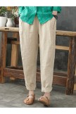 Solid Color Loose Plus Size Harem Pants with Pockets
