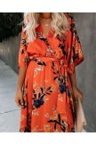 WILDFLOWER SATIN KIMONO MAXI DRESS